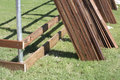 Nice ply wood for new  fence building Royalty Free Stock Photo