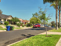 A nice quite residential area by Los Angeles Royalty Free Stock Photo