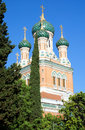Nice russian orthodox church the in france Royalty Free Stock Photo