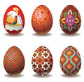 Nice set of easter eggs Stock Images