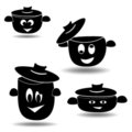 Nice set of pots and pans Royalty Free Stock Photos