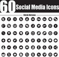 Nice simple elegant set social media icons suitable your graphic web projects fully resizable editable Stock Photo