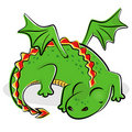 Nice slipping dragon Royalty Free Stock Photography