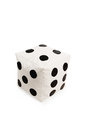 Nice and soft beanbag chair in shape of dice for your living room isolated on white background Royalty Free Stock Image