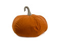 Nice and soft beanbag chair in shape of pumpkin for your living room isolated on white background Stock Photography