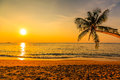 Nice sunset beautiful over the sea province khao lak in thailand Royalty Free Stock Images
