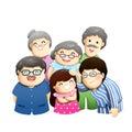 Nice teeth family have everybody illustration Royalty Free Stock Photos