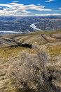 Nice view of lewiston idaho and clarkston washington from above Stock Image