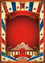 Nice vintage circus background with big top