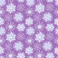 Nice winter snowflake set. Vector seamless pattern. Royalty Free Stock Photo