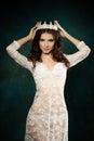 Nice Woman wearing Crown Royalty Free Stock Photo