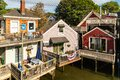 Nice wooden houses in Kennebunkport, Maine, USA Royalty Free Stock Photo