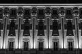 Nicely illuminated facade historic building prague Stock Photography