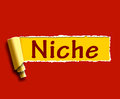 Niche word shows web opening or specialty showing Royalty Free Stock Image