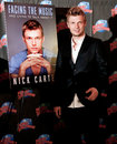 Nick carter new york sep singer promotes his new book facing the music and living to talk about it at planet hollywood times Royalty Free Stock Photo