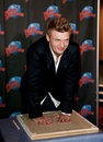 Nick carter new york sep singer promotes his new book facing the music and living to talk about it at planet hollywood times Royalty Free Stock Images