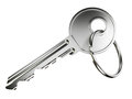 Nickel door key Royalty Free Stock Photo