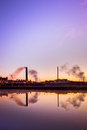Nickel plant view of a during sunrise in canada Royalty Free Stock Image