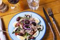 Nicoise french salad on a plate Royalty Free Stock Photography