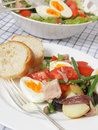 Nicoise salad meal Stock Image
