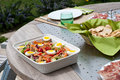 Nicoise salad outdoor Stock Photos