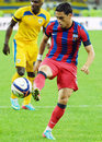 Nicolae stanciuof steaua bucharest stanciu of pictured in action during the romanian supercup between bucharesta and petrolul Stock Images