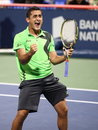 Nicolas Almagro at Rogers Cup Montreal Royalty Free Stock Photo