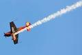 Nicolas ivanoff hamilton aircraft edge festa al cel sky party air show september Stock Image