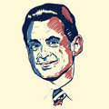 Nicolas Sarkozy portrait Royalty Free Stock Photo