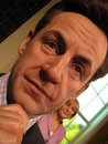 Nicolas Sarkozy - wax statue Stock Photo