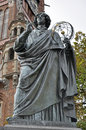 Nicolaus copernicus monument to in torun poland Royalty Free Stock Image