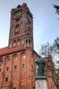 Nicolaus copernicus monument torun poland Royalty Free Stock Image