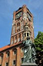 Nicolaus copernicus monument in torun poland of great astronomer front of the town hall Stock Photography