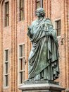 Nicolaus copernicus statue in old town torun poland Royalty Free Stock Image