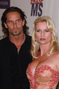 Nicollette sheridan niklas soderblom desperate housewives star boyfriend at the th annual race to erase ms gala themed rock Royalty Free Stock Image