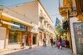 Nicosia april ledra street a major shopping thoroughfare in central nicosia on on april Royalty Free Stock Photography