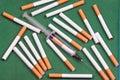 Nicotine dependence Stock Photo