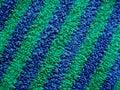 Niebieska tkaniny green goły Terry Obraz Royalty Free