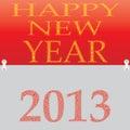 Nieuw jaar 2013. Stock Foto's