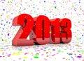Nieuw jaar 2013 Stock Afbeeldingen