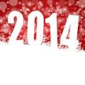 Nieuwe het jaarillustratie van 2014 met sneeuwvlokken Stock Foto