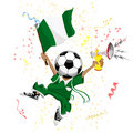 Nigeria Soccer Fan Stock Photo