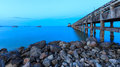 Nigh jetty chumphon thailand at Stock Photo