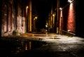 Night Alley WA Royalty Free Stock Photo