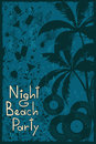 Night beach party flyer tropical or background Royalty Free Stock Photos
