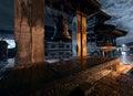 Night in bhaktapur at durbar square Stock Photo