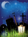 Night cemetery Royalty Free Stock Photos