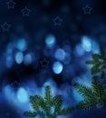 Night christmas background Royalty Free Stock Photo