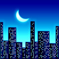 Night in city Royalty Free Stock Photo