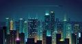 Night city background Royalty Free Stock Photo